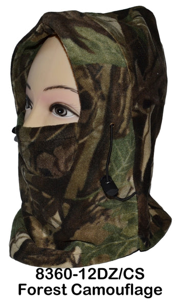 Wholesale Camouflage Thermal Fleece Balaclava Hood Swat Windproof Face Mask 8360 - OPT FASHION WHOLESALE