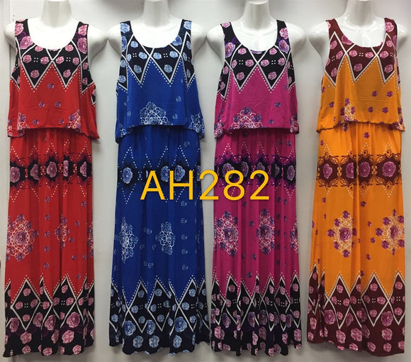 NYC Wholesale Fashion Long Maxi Dresses Summer Sundresses, AH282 - OPT FASHION WHOLESALE