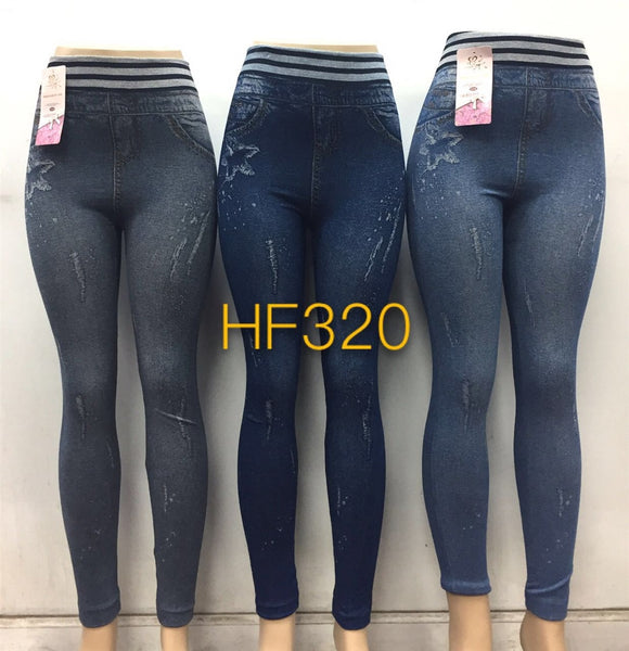 NYC Wholesale Lady Jeggings Jean Leggings Pants, HF320 - OPT FASHION WHOLESALE
