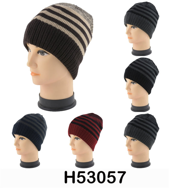 Wholesale Knit Snowflake Beanie Solid Hats H53057