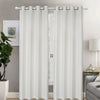 Lined And Interlined Embroidered Grommet Top Window Curtain Panel Drape, 81001 - OPT FASHION WHOLESALE