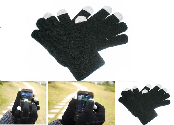 Texting Touch Screen Knit Gloves for iPhone iPad GPS Smart Phones GA0807 - OPT FASHION WHOLESALE