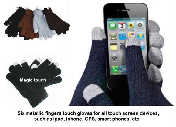 Wholesale Lady Knit Touch Screen Gloves G0906-W - OPT FASHION WHOLESALE