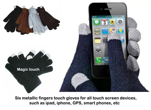 Wholesale Lady Heavy Knit Touch Screen Gloves G0906-W