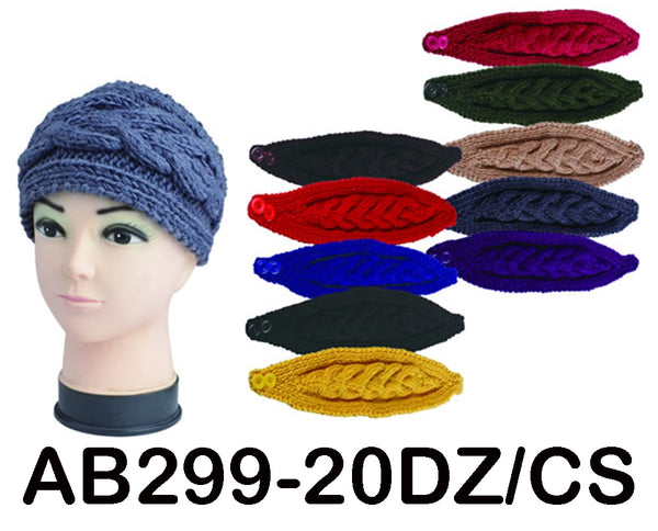 Handmade Headwear Crochet Knit Headwrap Headband Ear Warmer AB299 - OPT FASHION WHOLESALE