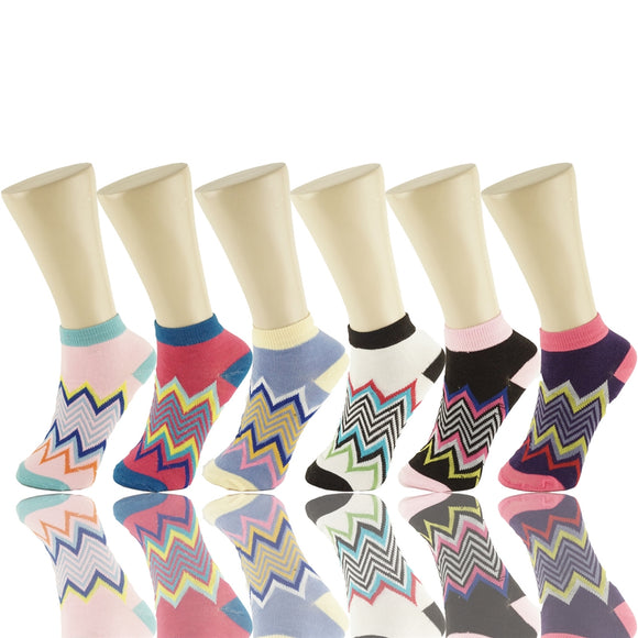 Wholesale 12 Pairs Lady Girls Ankle Socks Low Cut Assorted Colors S18330 - OPT FASHION WHOLESALE