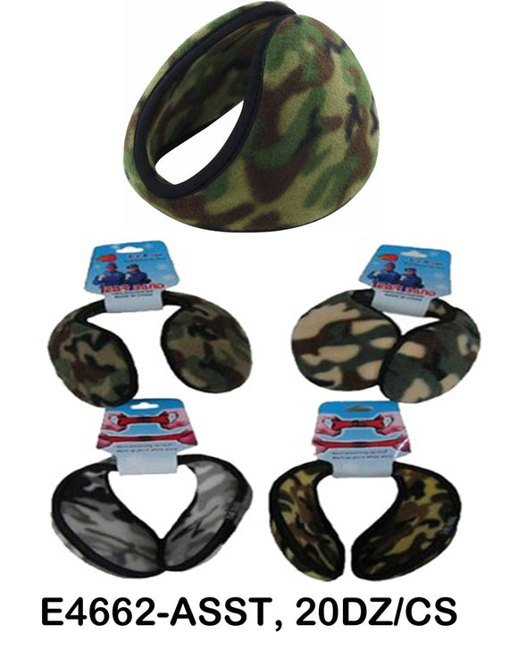 Wholesale Camouflage Fleece Earband Earmuff Ear Warmer 4662 - OPT FASHION WHOLESALE