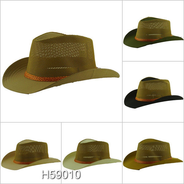 Wholesale Summer Straw Fedora Hats Unisex H59010