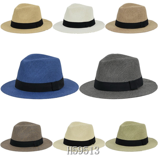 Wholesale Summer Sun Straw Bucket Hats H59513 - OPT FASHION WHOLESALE