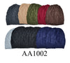 Lady Winter Ribbed Cable Knitted Hat Beanies Skull Cap Fur Lining AA1002 - OPT FASHION WHOLESALE