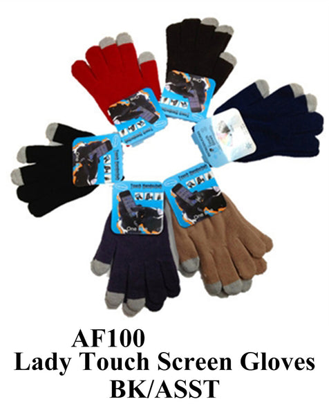 Lady Knit Touch Screen iPhone Gloves AF100 - OPT FASHION WHOLESALE