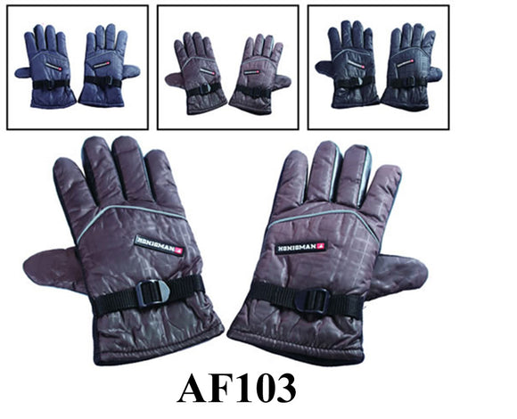 Grabber Palm Water Proof Ski Sport Gloves W/Velcro Strap AF103 - OPT FASHION WHOLESALE