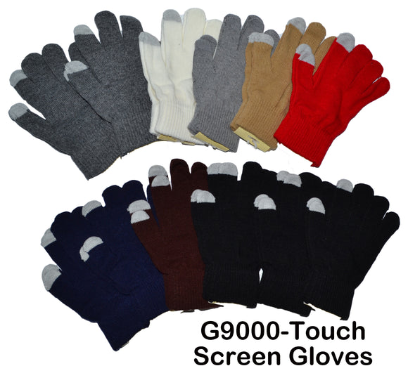 Unisex Knit Touch Screen Gloves G9000 - OPT FASHION WHOLESALE
