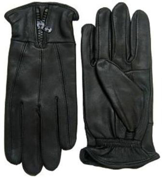 Men Genuine Leather Gloves W/Zipper AF012