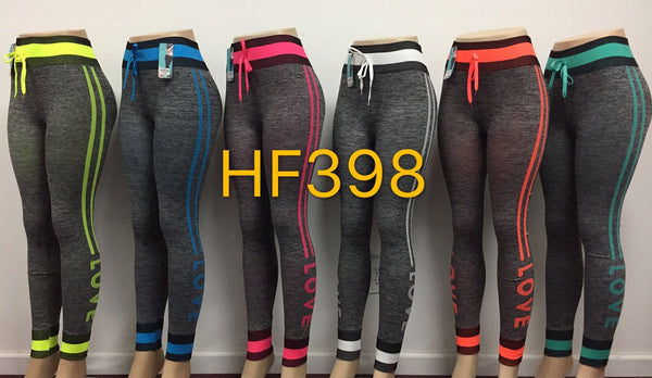 Sports Yoga Gym Workout Legging Pant, HF398 - OPT FASHION WHOLESALE