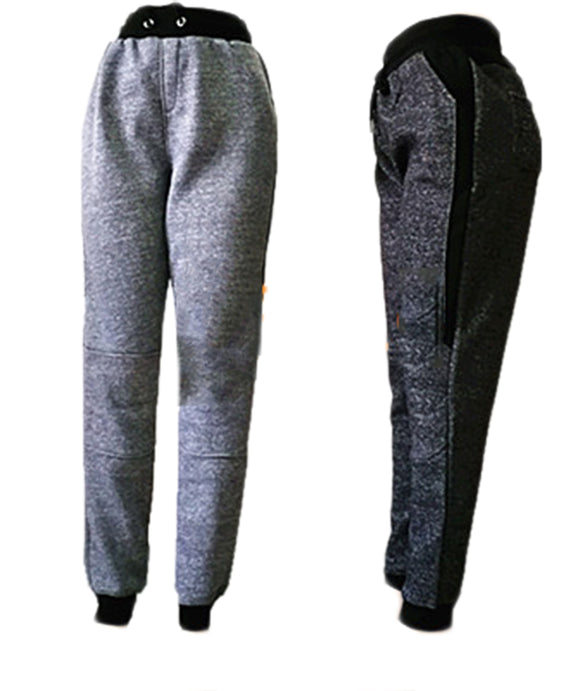 Men Winter Pants Sports JOGGERS Fur Lining HF816 - OPT FASHION WHOLESALE