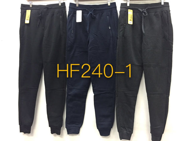 Men Winter Pants Sports JOGGERS Fleece Lining HF240 - OPT FASHION WHOLESALE