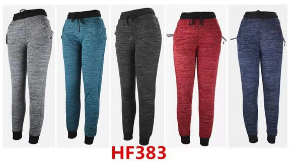 Lady Girl Winter Warm Solid Pants Leggings Fur Lining HF383 - OPT FASHION WHOLESALE