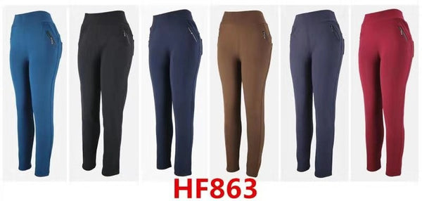 Lady Girl Winter Warm Pants Leggings Fur Lining HF863 - OPT FASHION WHOLESALE