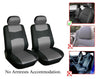 Mitsubishi I-Miev Mirage Mirage-G4 Outlander Outlander-Sport Lancer Lancer-Evolution 2 Front Bucket Vinyl Leather Car Seat Covers - OPT FASHION WHOLESALE