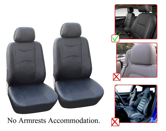 Jeep Compass Patriot Renegade Cherokee Grand Cherokee Wrangler Unlimited Wrangler 2 Front Bucket Vinyl Leather Car Seat Covers