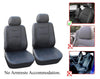 Audi A3 A4 A6 A7 A8 allroad Q5 Q3 Q7 SQ5 Quattro 2 Front Bucket Vinyl Leather Car Seat Covers - OPT FASHION WHOLESALE