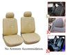 Nissan Altima Leaf Murano Note Rogue Sentra Versa 2 Front Bucket Vinyl Leather Car Seat Covers - OPT FASHION WHOLESALE