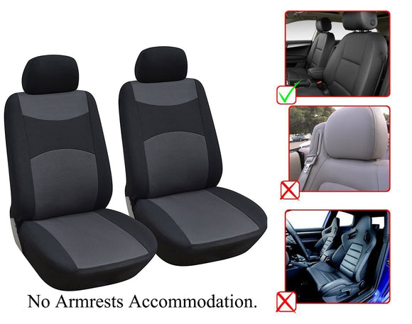 Dodge Charger Durango Journey Dart 2 Front Bucket Fabric Car Seat Covers - OPT FASHION WHOLESALE