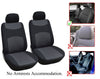 Jaguar XJ XK XKR XKR-S XF XFR XFR-S 2 Front Bucket Fabric Car Seat Covers - OPT FASHION WHOLESALE