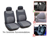 Kia Rio Sorento Sportage Rondo Soul Cadenza K900 Sedona Optima Forte Koup 2 Front Bucket Fabric Car Seat Covers - OPT FASHION WHOLESALE