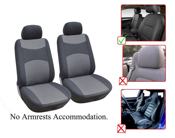 Nissan Altima Leaf Murano Note Rogue Sentra Versa 2 Front Bucket Fabric Car Seat Covers