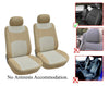 Nissan Altima Leaf Murano Note Rogue Sentra Versa 2 Front Bucket Fabric Car Seat Covers - OPT FASHION WHOLESALE