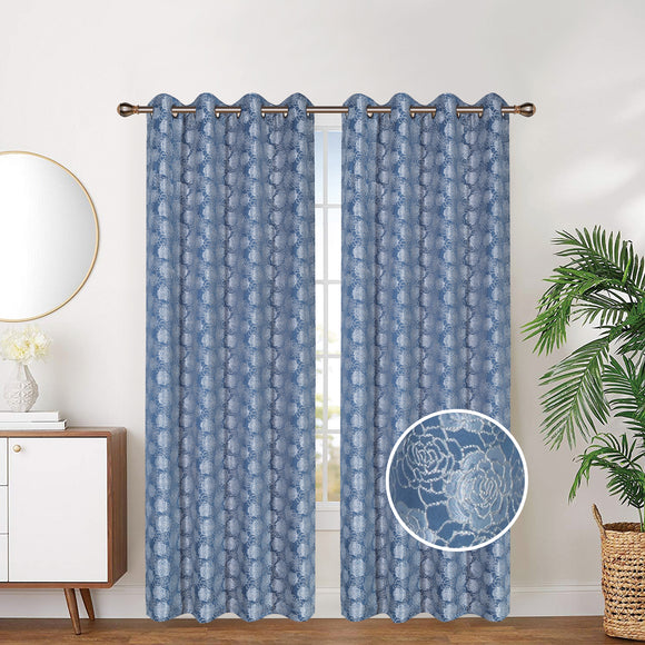 Linen Lined And Interlined Grommet Top Window Curtain Panel, 81029