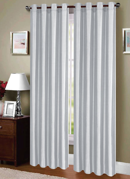 Dupioni Breathable Fabric Grommet Top Window Curtain Panel, 81011 - OPT FASHION WHOLESALE
