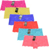 Wholesale Lady Lace Shortie Panty Boyshorts, U14122