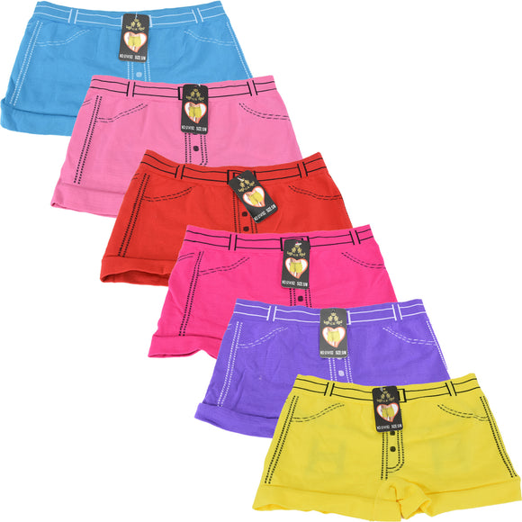Wholesale Lady Shortie Panty Boyshorts, U14182