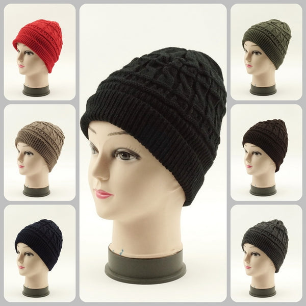Wholesale Cable Knit Beanie Hats H53015 - OPT FASHION WHOLESALE