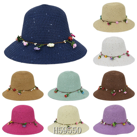 Wholesale Summer Sun Straw Fedora Bucket Hats H59550