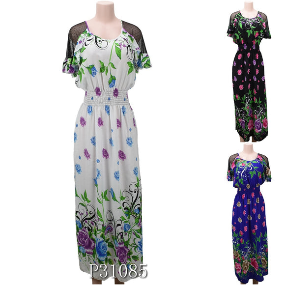 NYC Wholesale Fashion Long Maxi Dresses Summer Sundresses, P31085 - OPT FASHION WHOLESALE