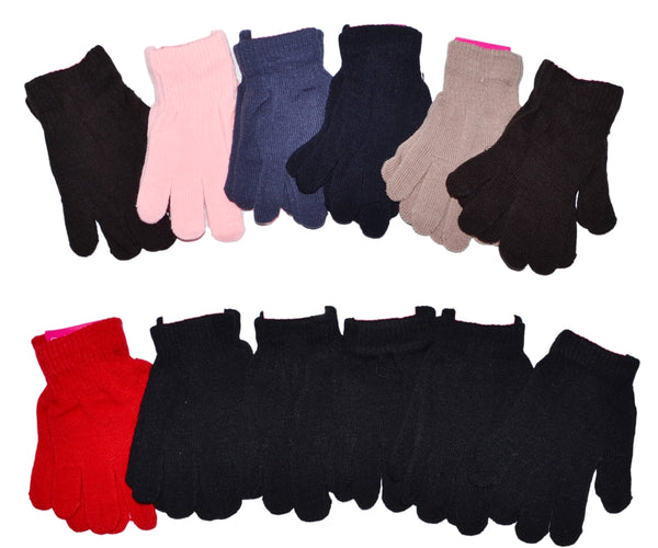 Lady Winter Knit Magic Gloves, Good for Work Garden Sports. GL55018 - OPT FASHION WHOLESALE
