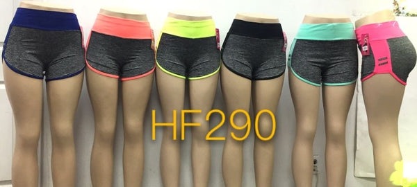 NYC Wholesale Lady Girls Yoga Short Sports Leggings, HF290 - OPT FASHION WHOLESALE