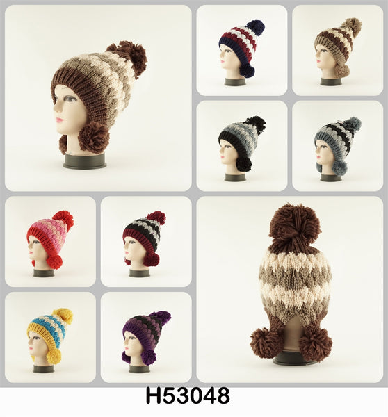 Wholesale Knit Crochet Multi Colors Hat H53048 - OPT FASHION WHOLESALE