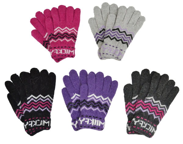 Chevron Zig Zag Wool Fashion Gloves GSH0802 - OPT FASHION WHOLESALE