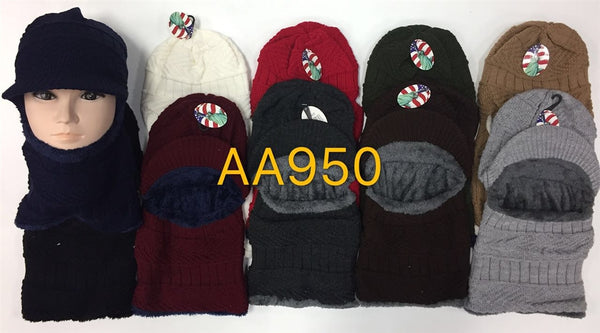 Wholesale Ski Visor Fur Face Balaclava Mask AA950 - OPT FASHION WHOLESALE