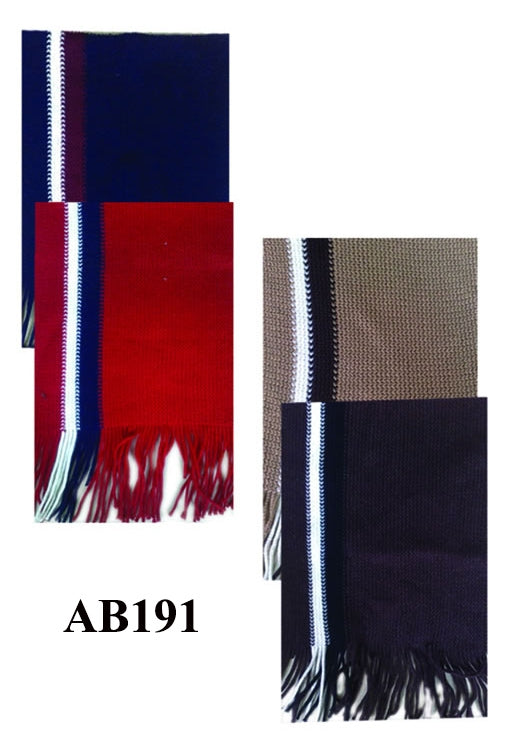 Knit Stripe Scarf Assorted Colors AB191 - OPT FASHION WHOLESALE