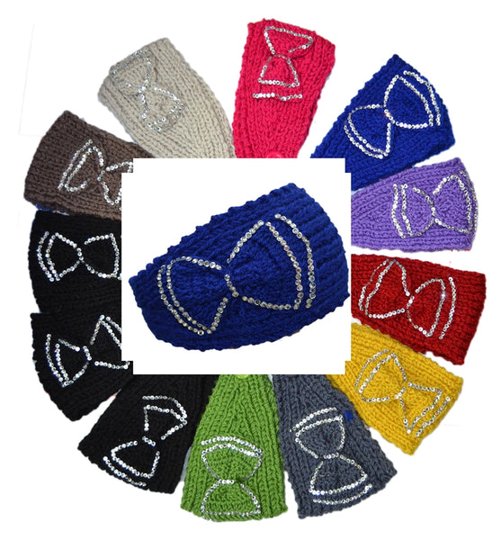 Handmade Headwear Ribbon Crochet Knit Headwrap Headband Ear Warmer AB300 - OPT FASHION WHOLESALE