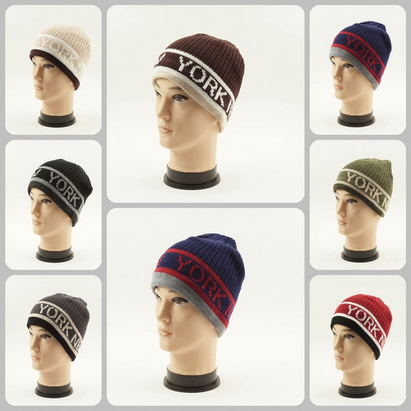 Knit Beanie New York Hats H5033 - OPT FASHION WHOLESALE