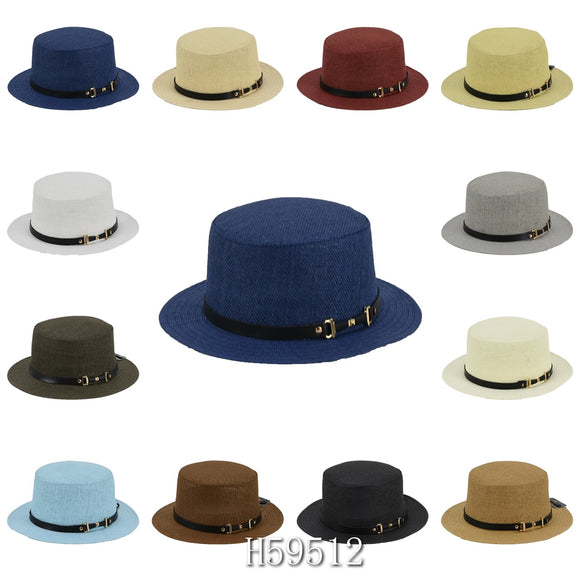 Wholesale Summer Sun Straw Bucket Hats H59512 - OPT FASHION WHOLESALE