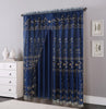 Double Layers Organza Sheer Embroidered Rod Pocket Window Curtain Panel and Valance, FF1005 - OPT FASHION WHOLESALE