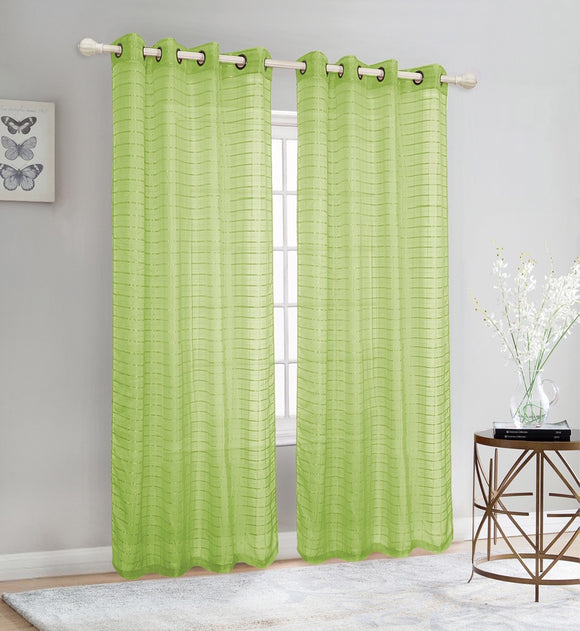 Sheer Voile Grommet Top Window Curtain Panel, FF1007 - OPT FASHION WHOLESALE